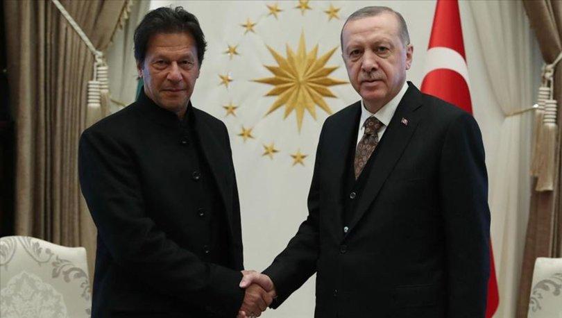 Son dakika haberi Cumhurbaşkanı Erdoğan, İmran Han ile görüştü