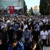Mescid'i Aksa'da yüz bin kişiyle bayram namazı!