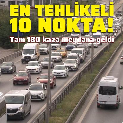 İstanbul'da en çok kaza yaşanan 10 nokta