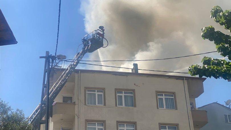 Pendik'te 5 katlı binada yangın çıktı