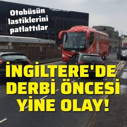 Otobüsün önünü kestiler!