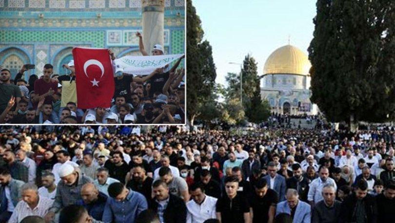 İSRAİL KATLİAMI! Son dakika... Mescid'i Aksa'da yüz bin kişiyle bayram namazı! - VİDEO HABER