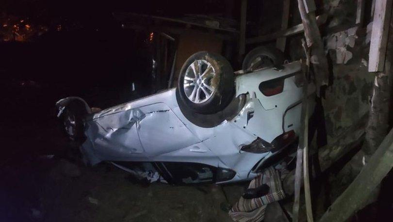 Antalya'da kontrolden çıkan otomobil takla attı: 1 ölü, 2 yaralı