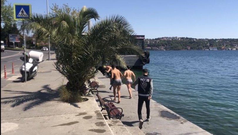 Son dakika: Sarıyer'de denize girenler polisi görünce giyinemeden kaçtı