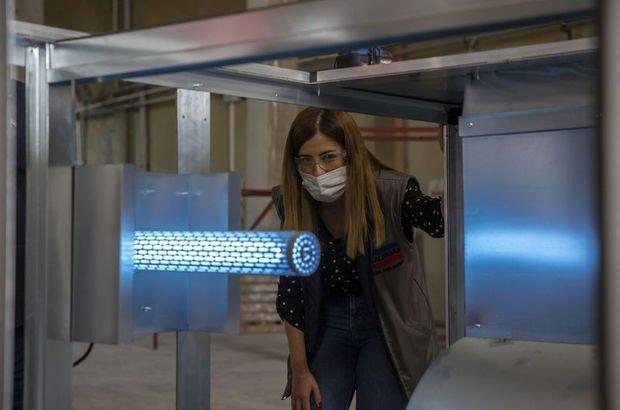 Covid-19'a karşı ultraviyole ışıkla hava temizleme cihazı üretildi