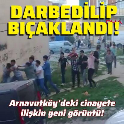 Arnavutköy'deki kavga anı kamerada!