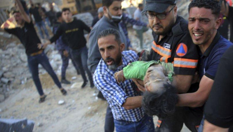 İsrail yok ediyor! Kahreden fotoğraflar! Bir baba ile 3 çocuk!