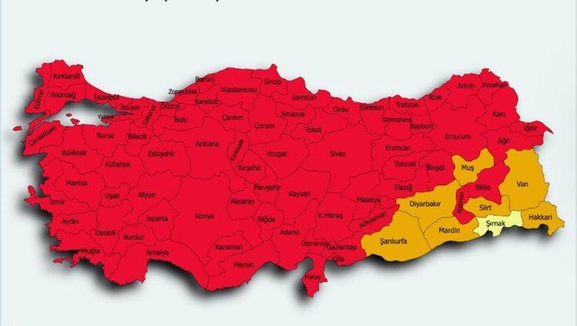 İl il risk haritası 14 Mayıs! Türkiye risk haritasına göre düşük, orta, yüksek ve çok yüksek riskli iller