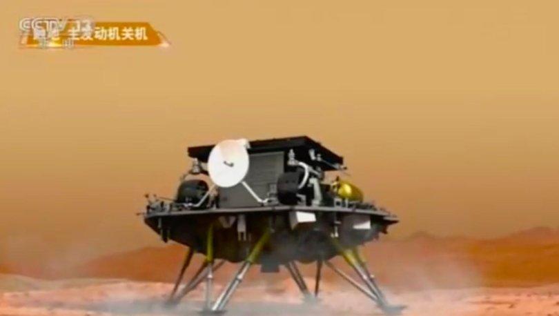 SON DAKİKA: Çin'den tarihi adım: Zhurong keşif aracı ilk kez Mars'a iniş yaptı!