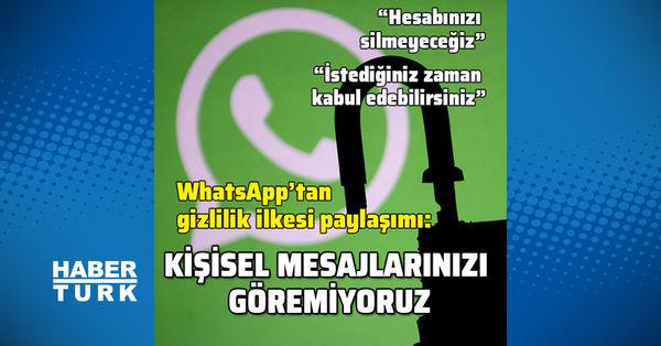 WhatsApp'tan gizlilik ilkesi paylaşımı