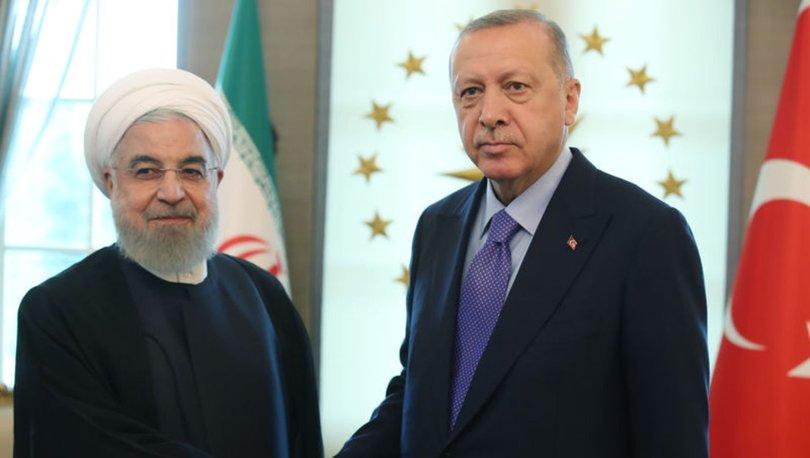SON DAKİKA: Cumhurbaşkanı Erdoğan İran Cumhurbaşkanı Ruhani ile görüştü!