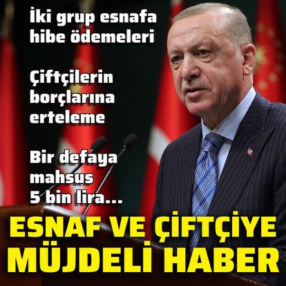 Cumhurbaşkanı Erdoğan açıkladı! Esnafa hibe desteği