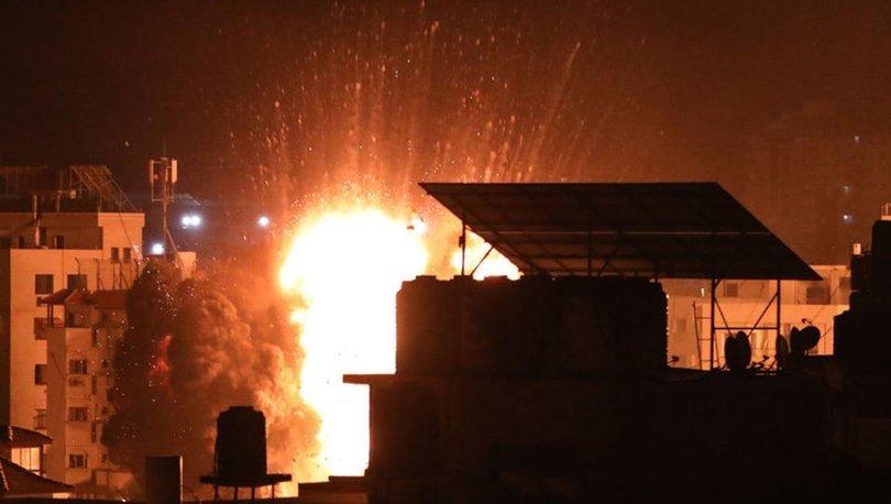 İsrail'in Gazze'ye yönelik hava saldırıları sürüyor