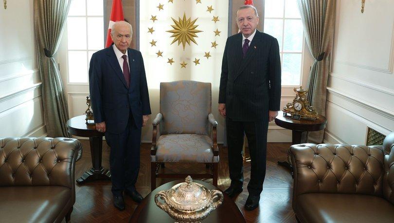 Son dakika haberi Cumhurbaşkanı Erdoğan, Bahçeli ile görüştü