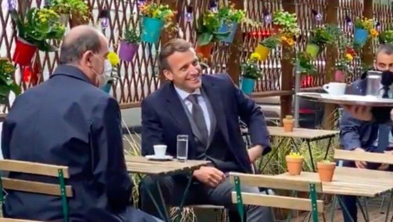 SON DAKİKA: Fransa'da normalleşme adımları: Cumhurbaşkanı Macron, Başbakan Castex ile kafede! - Haberler
