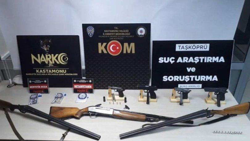 Kastamonu'da uyuşturucu ve silah kaçakçılığı operasyonu: 7 gözaltı