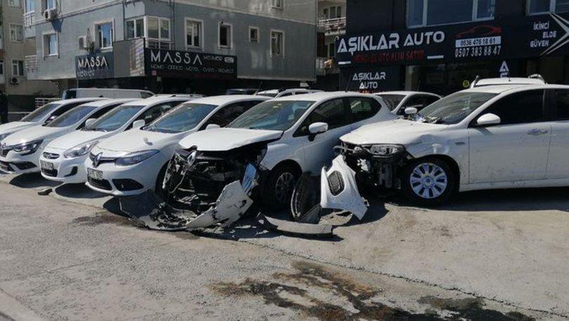 Son dakika: Avcılar'da 12 aracın karıştığı zincirleme kaza kamerada