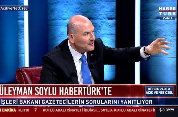 Bakan Soylu Habertürk TV'de konuştu