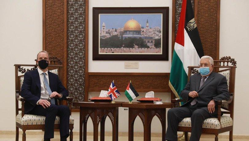 İngiltere Dışişleri Bakanı Filistin Devlet Başkanı Mahmud Abbas ile görüştü