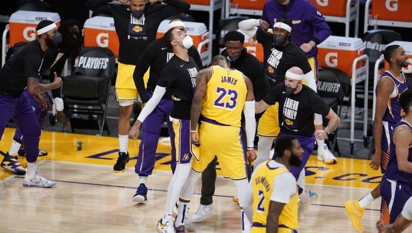 Son NBA şampiyonu Lakers, Suns'a karşı 2-1 öne geçti