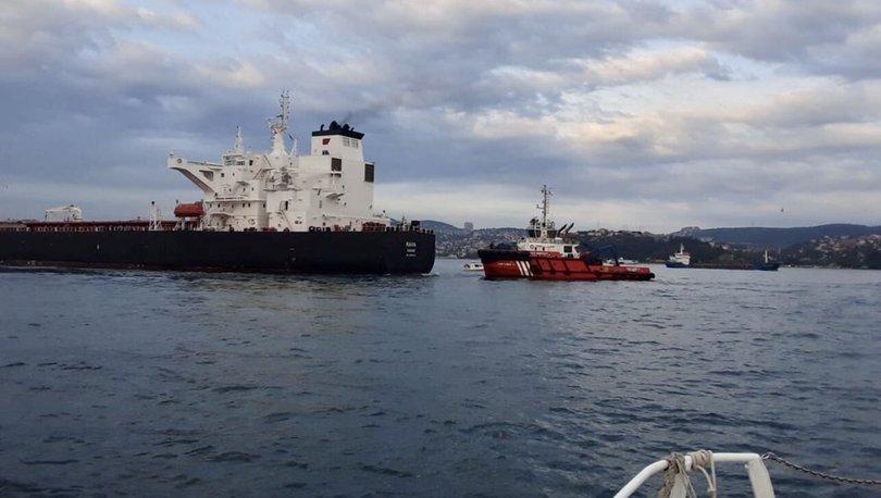 Son dakika haberi İstanbul Boğazı'nda tanker kıyıya sürüklendi!