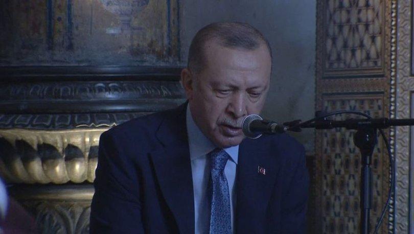 Cumhurbaşkanı Erdoğan, hafız icazet töreninde Kur'an-ı Kerim okudu