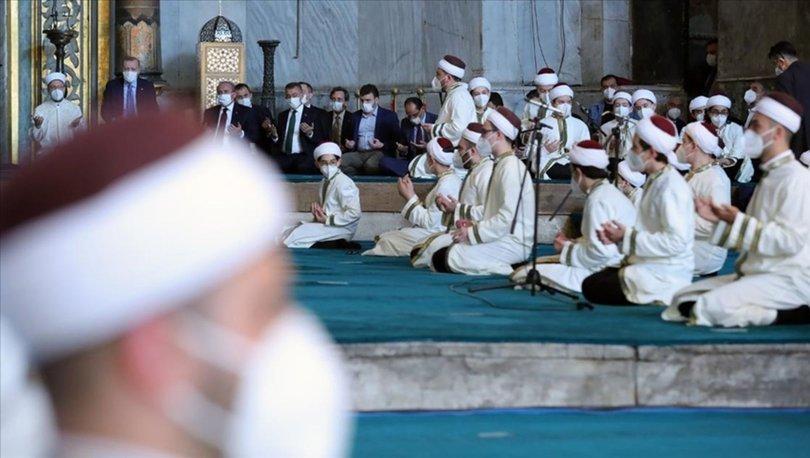 Haberler: Cumhurbaşkanı Erdoğan Ayasofya'da! İcazet törenine katıldı ve...