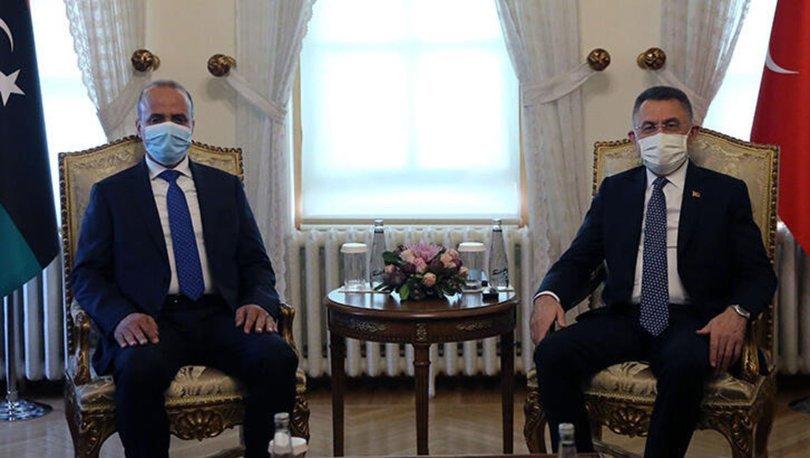 Cumhurbaşkanı Yardımcısı Oktay, Libya Başkanlık Konseyi Başkan Yardımcısı Abdullah El-Lafi'yi kabul etti