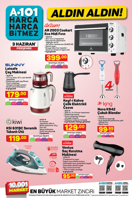 A101 BİM aktüel ürünler kataloğu! A101 BİM 31 Mayıs-3 Haziran aktüel ürünleri! Tüm liste yayında