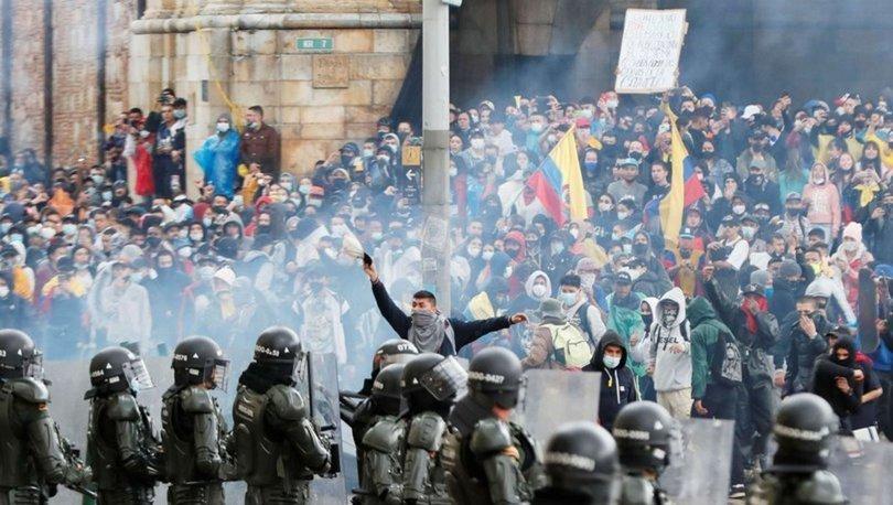 Kolombiya'da 1 ayını dolduran hükümet karşıtı protestolarda olaylar çıktı, 4 kişi yaşamını yitirdi