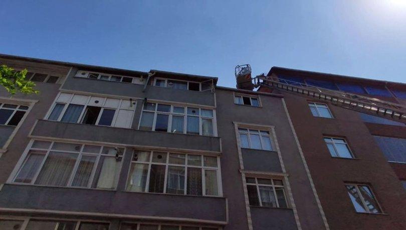 6 katlı binada yangın paniği!