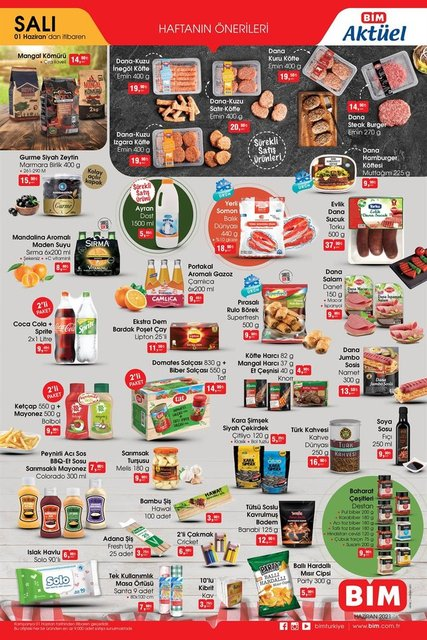 BİM aktüel ürünler kataloğu çıktı! 31 Mayıs - 4Haziran BİM'de bu hafta neler var? BİM indirimli ürünler listesi