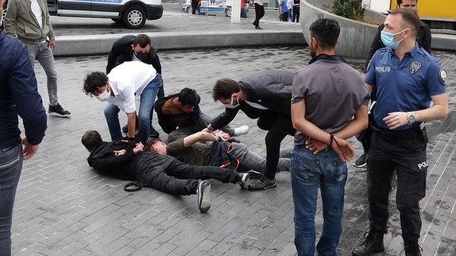 KEMERLİ KAVGA! Son dakika: Taksim Meydanı karıştı, özel harekat müdahale etti