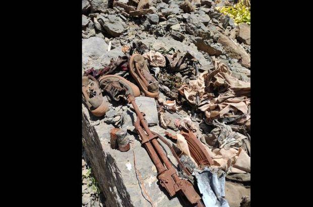 Mühimmatın yanında insan kemikleri bulundu