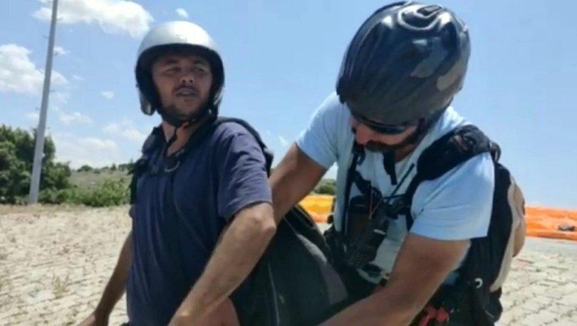 HAYALİ GERÇEK OLDU! Son dakika: Paraşütçüyle diyaloğu güldüren çiftçinin kendisi de uçtu - Haberler