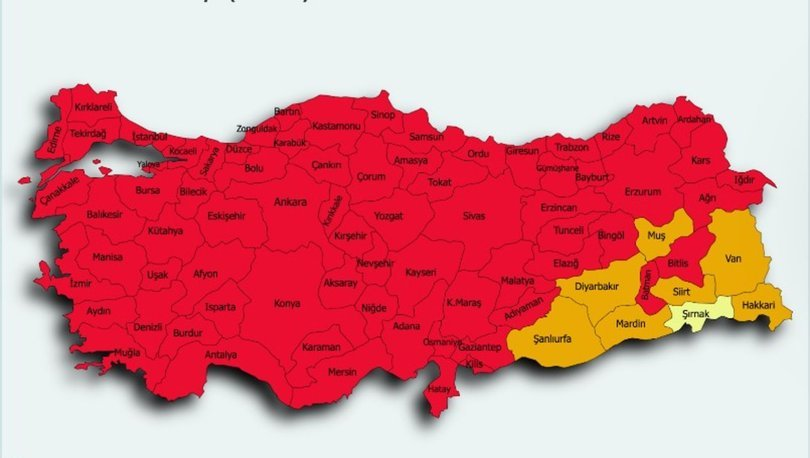 İl il risk haritası 30 Mayıs! Türkiye risk haritasına göre düşük, orta, yüksek ve çok yüksek riskli iller