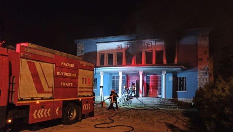 Kayseri'de eski Arkeoloji Müzesi'nde yangın