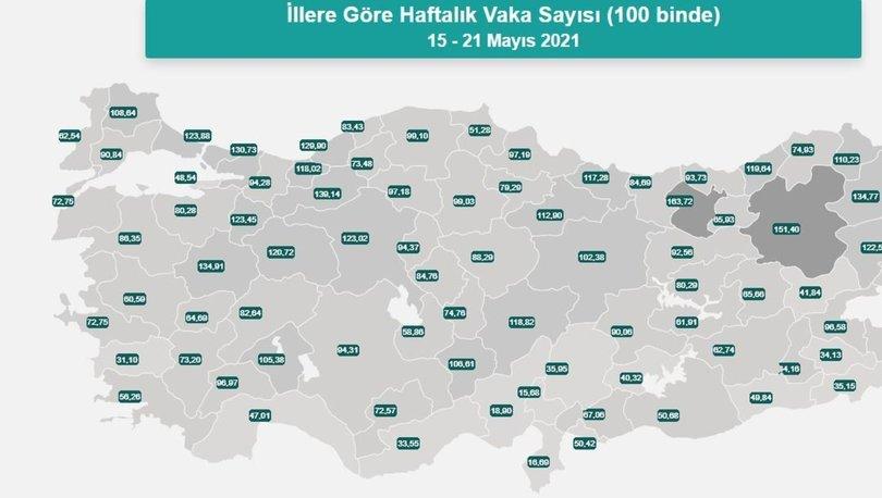 İl il risk haritası 31 Mayıs! Türkiye risk haritasına göre düşük, orta, yüksek ve çok yüksek riskli iller