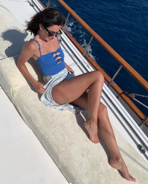 Nesrin Cavadzade'nin tatil fotoğrafları sosyal medyayı salladı