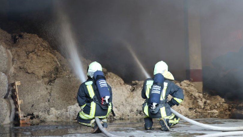 KORKUNÇ! Son dakika: Denizli'de iplik fabrikasında yangını
