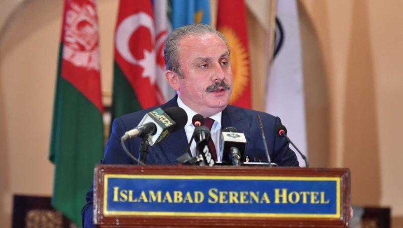 TBMM Başkanı Şentop'tan Pakistan'da küresel adaletsizlik ve yaşanan insanlık suçları mesajı