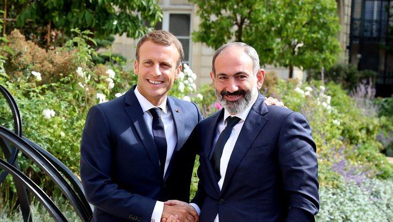 Fransa Cumhurbaşkanı Macron, Ermenistan Başbakanı Paşinyan ile görüştü