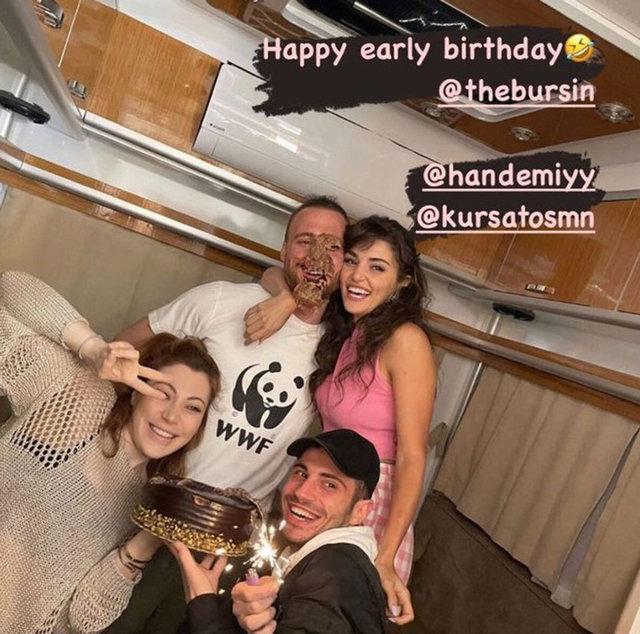 Hande Erçel'den Kerem Bürsin'e doğum günü sürprizi - Magazin haberleri