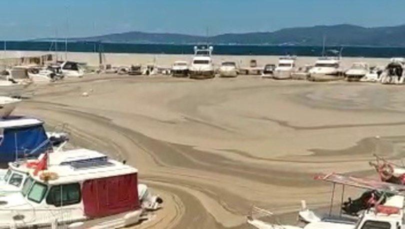 DENİZ SALYASI KABUSU! Son dakika: Tekirdağ'da deniz çöle dönüştü - Haberler