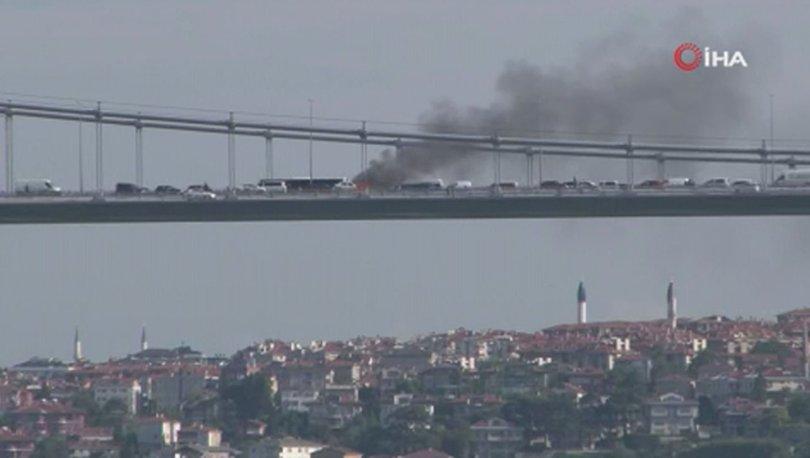 Son dakika... FSM Köprüsü'nde araç yangını
