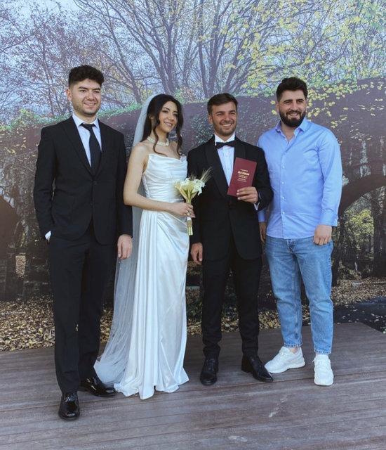 Fatih Yasin ile Sena Güzeldağ evlendi! 'Kafalar'ın üyesi mutluluğa 'Evet' dedi - Magazin haberleri