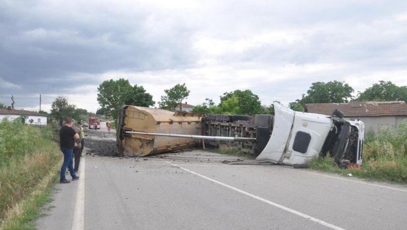 Tekirdağ'da depo duvarına çarpan TIR'ın sürücüsü öldü