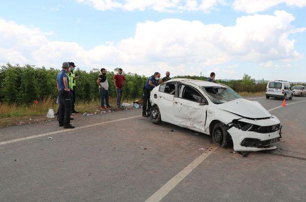 Otomobil yoldan yuvarlandı: 1 ölü, 2 yaralı