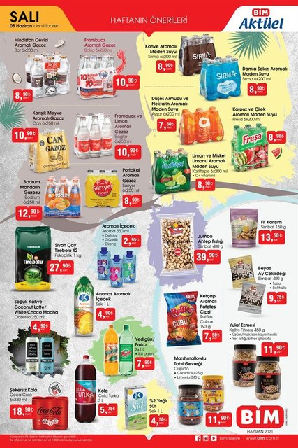 BİM 8 Haziran 2021 aktüel ürünler kataloğu! BİM'de bu hafta neler var? BİM aktüel indirimli ürünler listesi