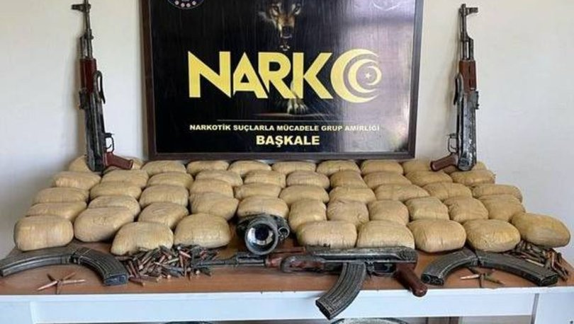 Van'da teröristlere ait silah ve esrar ele geçirildi
